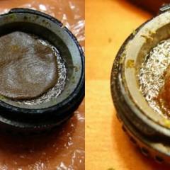 Vaporisation de résine de cannabis
