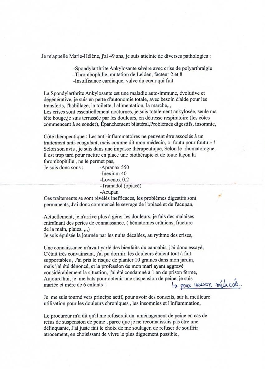 Témoignage Marie Hélène