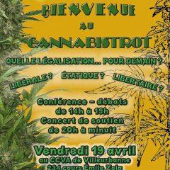 Bienvenue au Cannabistrot ! Quelle légalisation pour demain ? 19 avril à Villeurbanne