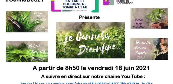 """""""Le cannabis déconfiné"""", le webinaire organisé par FPEA, 8h50 le vendredi 18 juin 2021 !"""